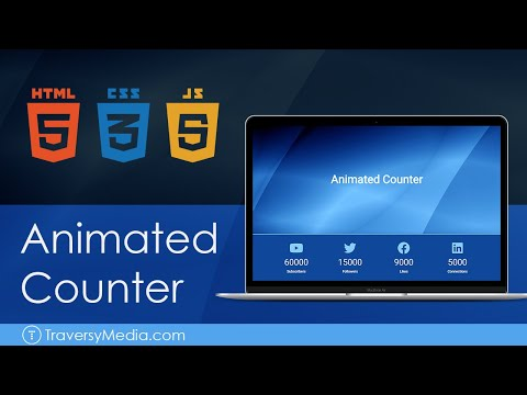 Animated Counter With JavaScript (HTML, CSS)
