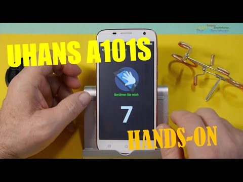 UHANS A101s Budget 3G Smartphone - Hands-on (Deutsch) - Review