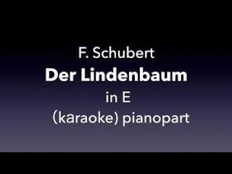 Der Lindenbaum   F. Schubert  in E  karaoke