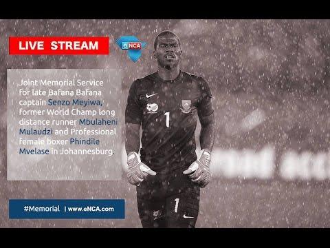LIVE: Memorial Service for fallen sport stars - Mulaudzi & Mvelase