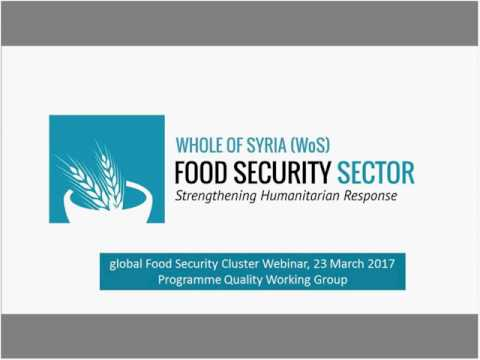 Webinar: Whole of Syria Outcome Monitoring Initiative