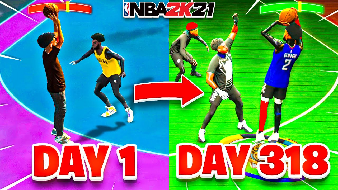 I USED MY DAY 1 JUMPSHOT but 318 days later on NBA 2K21...