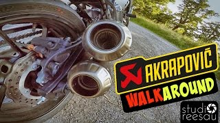 yamaha xsr700   ride with me   vol 8   akrapovic exhaust   walkaround