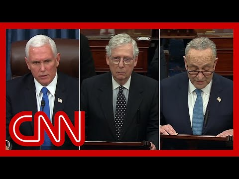 Pence, McConnell and Schumer address Senate floor as Electoral College certification resumes