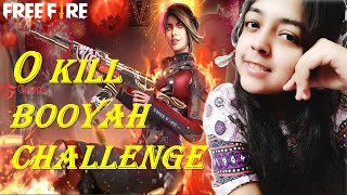Zero Kill Booyah ChaĮlenge in Free Fire | Next level camping | Survival tricks | Challenge 1