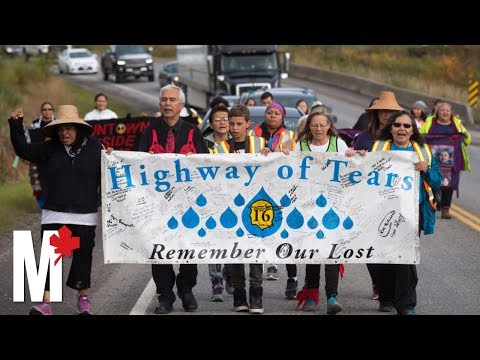 Missing and murdered Indigenous women: Families walk to inquiry hearing on the Highway of Tears