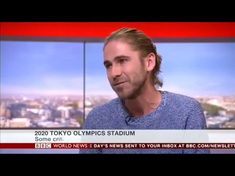 Tokyo Olympic Stadium interview, BBC World News, 22/12/15