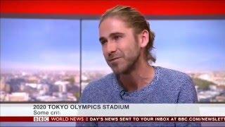 Tokyo Olympic Stadium interview, BBC World News, 22/12/15