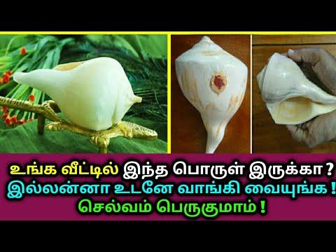 உங்க வீட்டில் இந்த பொருள் இருக்கா ? இல்லன்னா உடனே வாங்கி வையுங்க ! Valampuri Sangu | Astrology Tamil