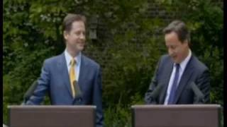David cameron questioned on Nick Clegg is a joke
