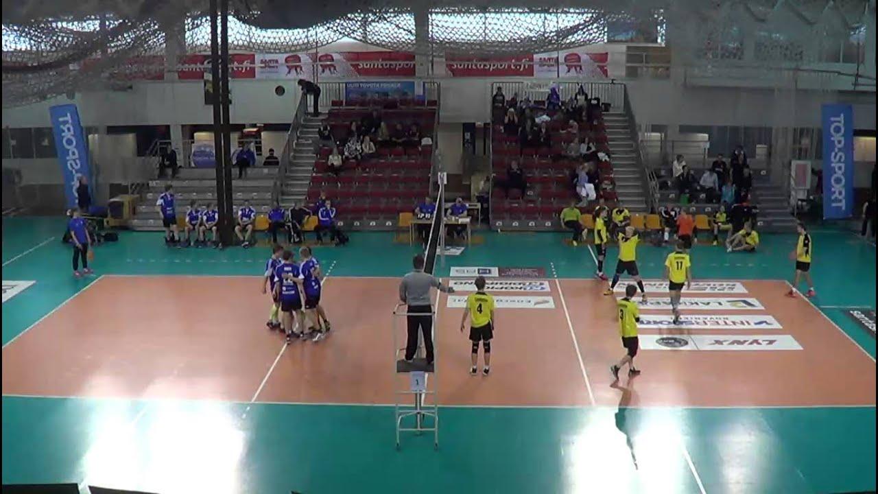 Lentopallon B-Poikien SM lopputurnaus, Laihian luja vs kalevan lentopallo (Lohko B, 13:15) - YouTube