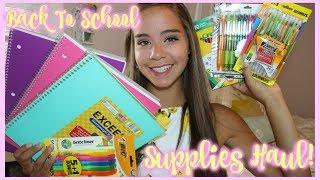 school supplies haul 2018