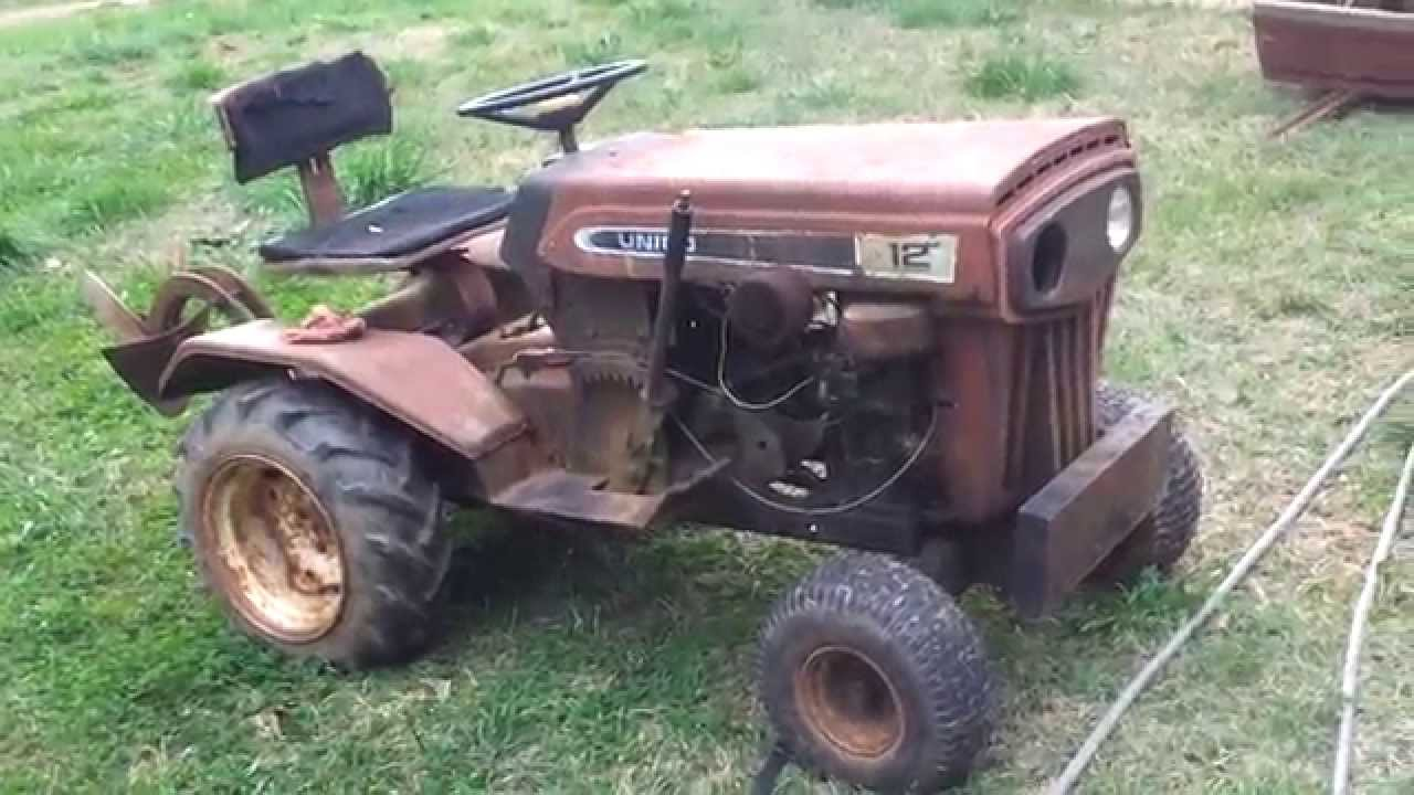 Vintage Mtd Lawn Tractors : Mtd garden tractor youtube