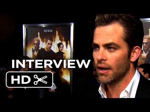 Jack Ryan: Shadow Recruit Premiere Interview - Chris Pine (2014) - Kevin Costner Movie HD