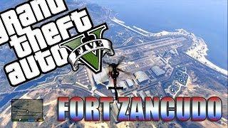 GTA V Online - Como entrar no Fort ZANCUDO sem ESTRELAS! + Localização dos Helicópteros!