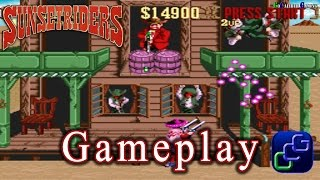 Sunset Riders Super Nintendo Gameplay - Stage 1: Simon Greedwell