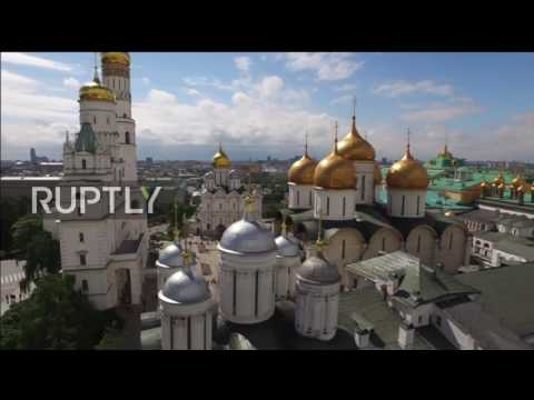 Russia: See Kremlin Presidium renovation from above with stunning drone footage