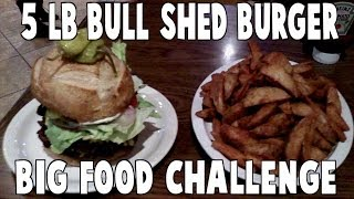 Food Challenge: 5 lb Bull Shed Burger & Fries Platter | FreakEating in Bakersfield