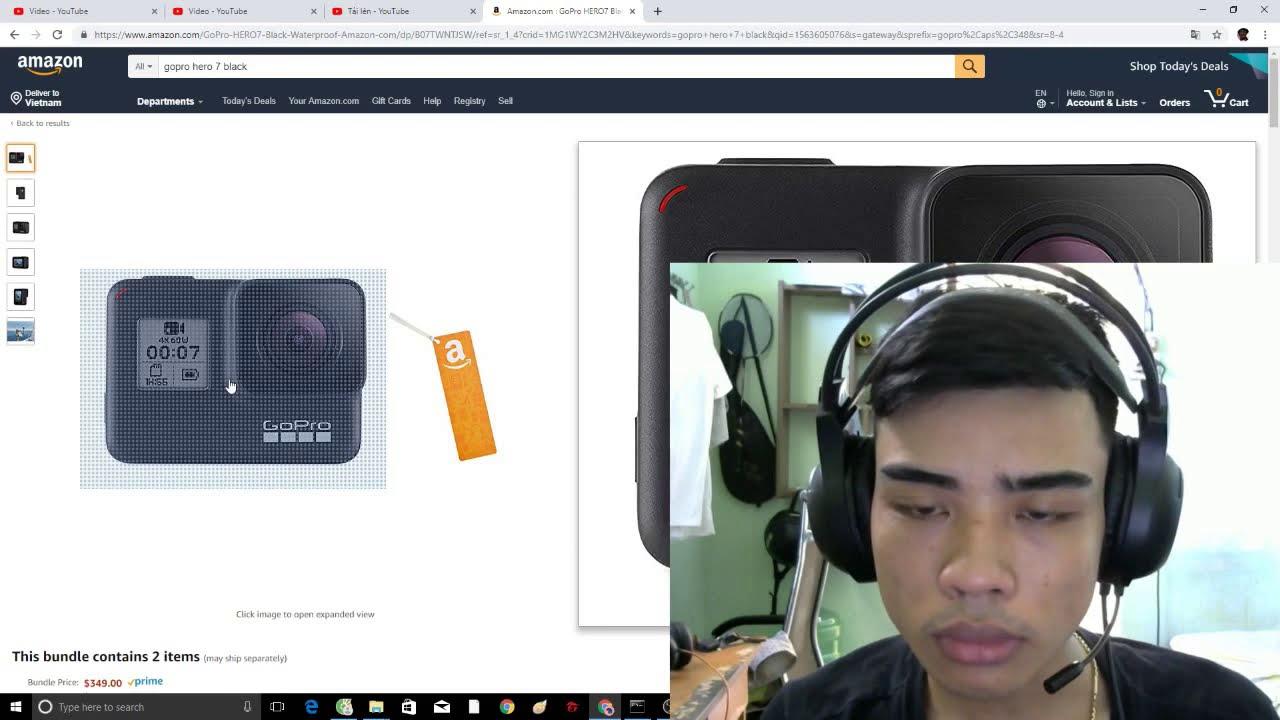 Cùng xem Gopro 7 trên Amazon có gì hot?