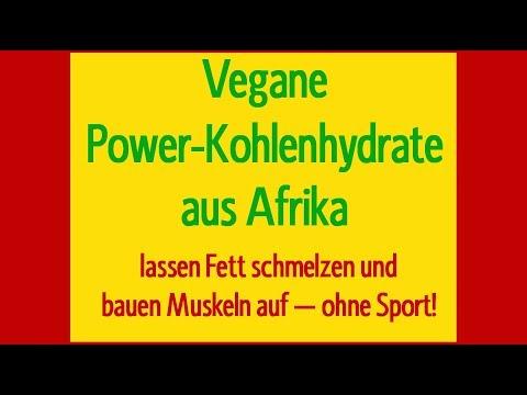 Vegane Power Kohlenhydrate aus Afrika: Muskeln statt Fett - ohne Sport! (indayi edition, Dantse)