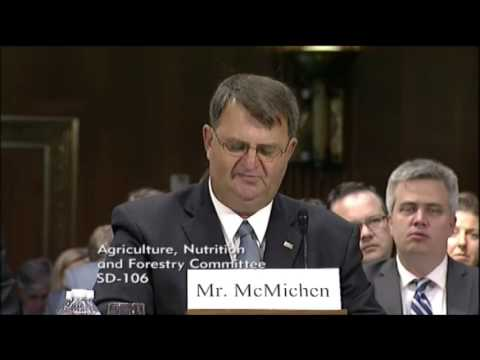 Nick McMichen Testifies Before Senate Ag Committee