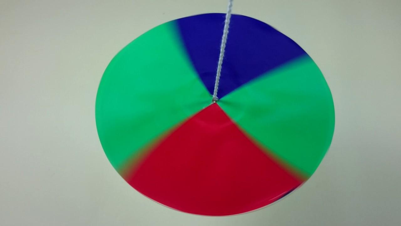 綠紅綠藍彩色光蝶陀螺 - YouTube
