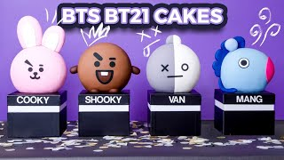 CAKE-IFYING BTS??! | BT21 GIVEAWAY!! | How To Cake It