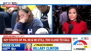 Hillary Supporters Leaving Clinton Headquarters In Tears!