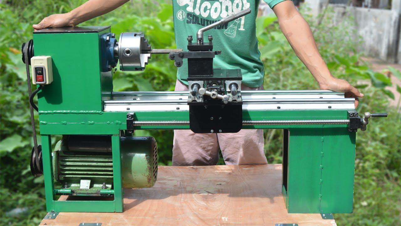 Homemade Lathe Machine You