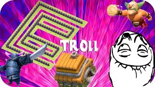 Clash of Clans - TOWN HALL 6 TROLL BASE! | Let's Play Clash of Clans