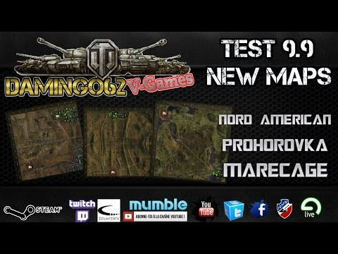 World Of Tanks test 9.9 news maps visite en ZIC