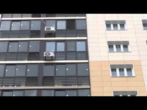 Замена холодного фасадного остекления на ул. Новотушинская в Путилково. Компания - Окна 21 ВЕК