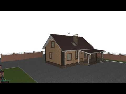 4M328 Проект красивого дома с мансардой и гаражом