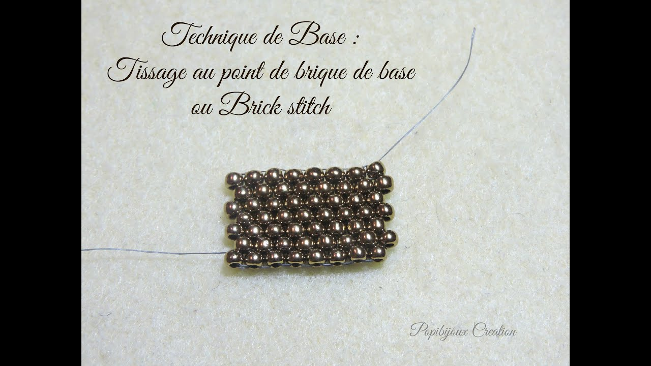 Technique de base le point de brique ou brick stitch Modele de rocaille pour jardin