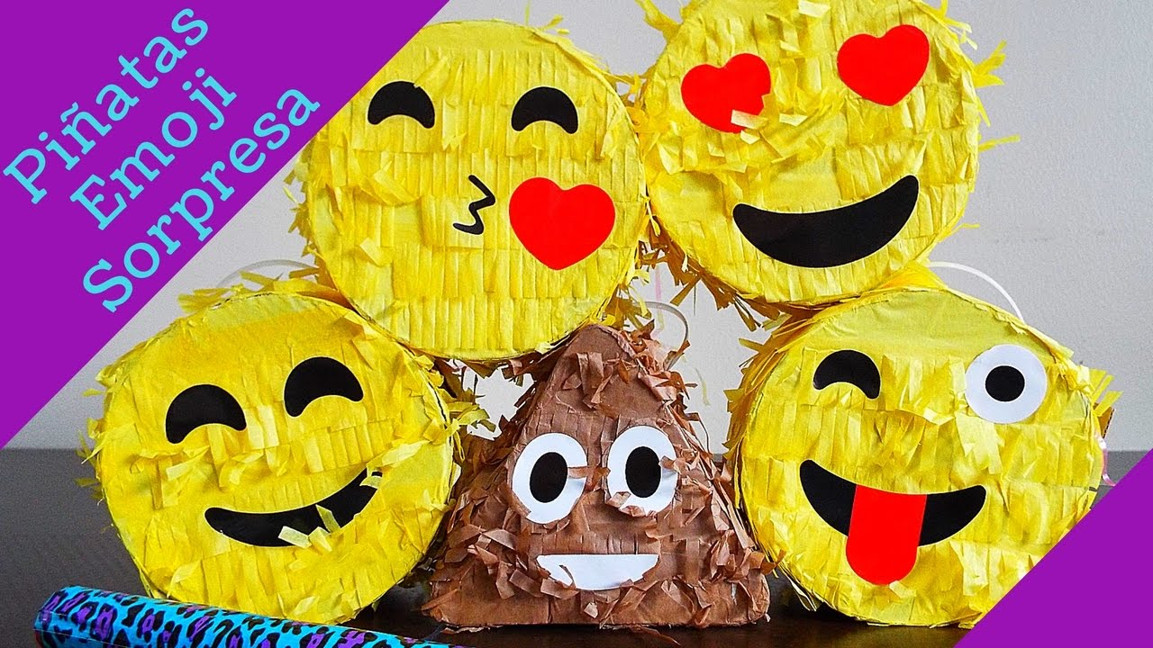 Pi atas emoji con sorpresas youtube - Regalos para pinatas ...