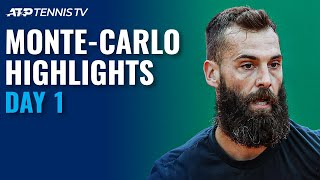 Goffin Faces Cilic; Paire vs Thompson | Monte-Carlo 2021 Day 1 Highlights