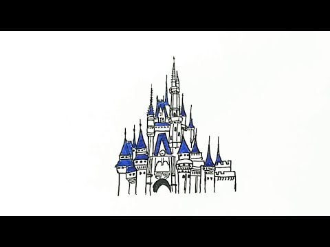 How to Draw the Disney Castle