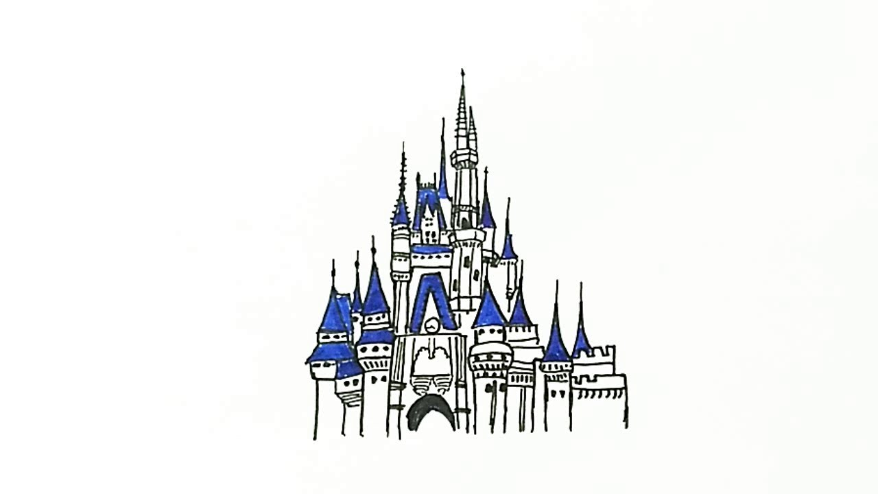 How To Draw The Disney Castle Youtube