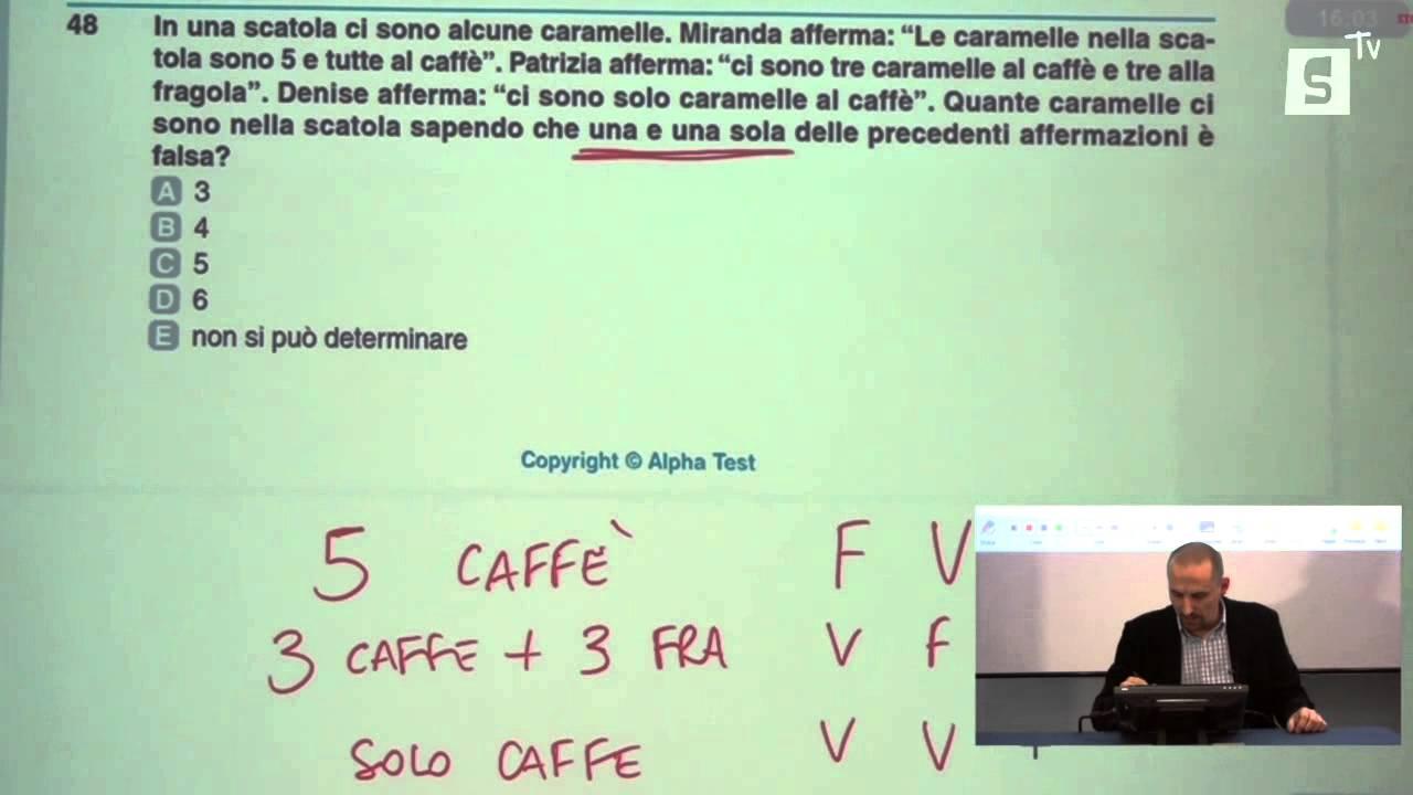 Test ingresso medicina odontoiatria cattolica esempio for Test bocconi simulazione
