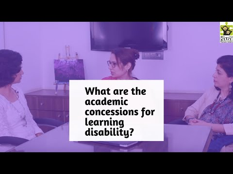 Academic Concessions For Students With Learning Disability.| Reena Singh