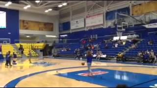 Second-straight half court shot made
