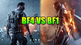 Battlefield 1 Vs Battlefield 4 - Biggest Gameplay Changes | BF1 Alpha