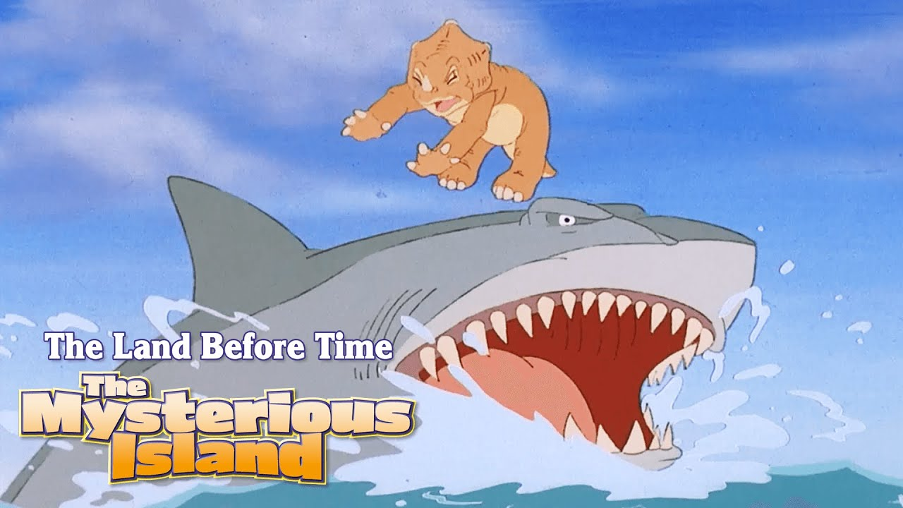 Swimming Sharptooth!   The Land Before Time V: The Mysterious Island