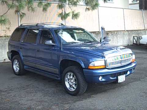 2002 Dodge Durango Slt Loaded 4 7l 4x4 Remote Start Air