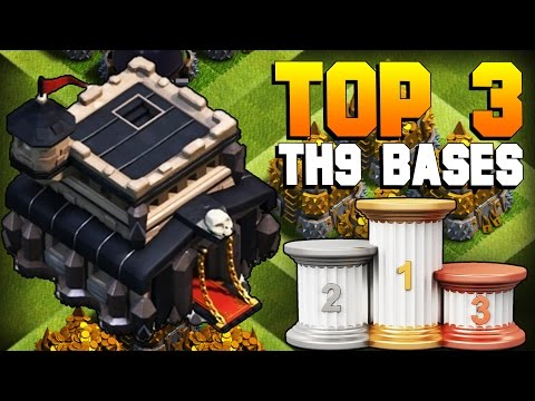 Clash Of Clans | TOP 3 BEST TH9 Farming Base 2017 | CoC NEW Town Hall 9 Defense Strategy [TH9 2017]