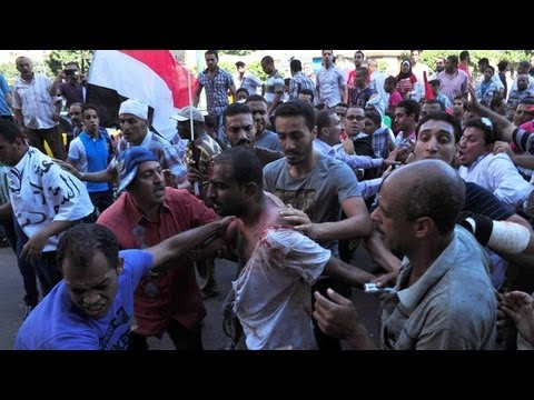 Clashes in Alexandria after peaceful protests by Egyptians turn sour