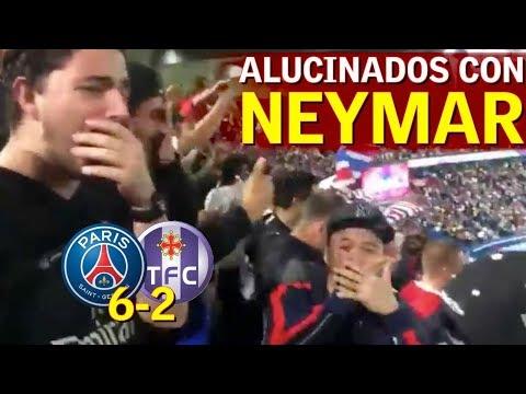 PSG 6-2 TOULOUSE | La reacción de los fans con el gol de Neymar, les faltó llorar