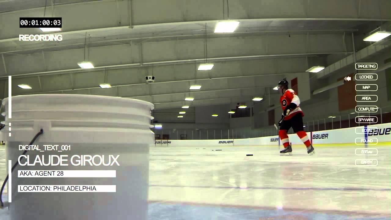 Claude Giroux Trick Shots With The Bauer Vapor Apx2 Hockey