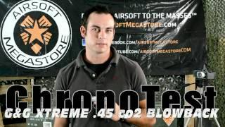 G&g Xtreme-45 Co2 Blowback Pistol Chrono Test Fps/rof