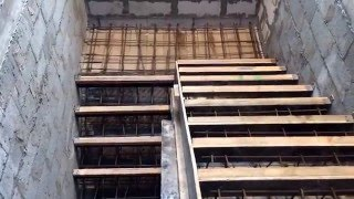 Изготовление бетонных лестниц в частных домах: технология строительства своими руками(фото и видео)